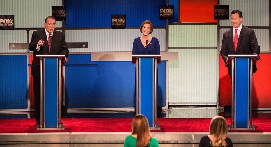 Carly Fiorina, Santorum, Mike Huckabee