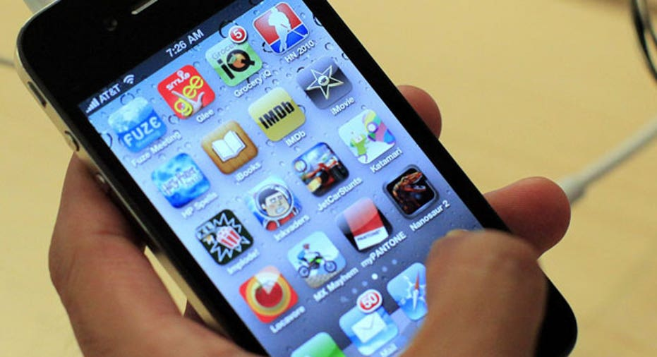 Apple iPhone 4 Closeup of Apps