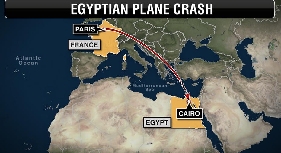 Egyptair map