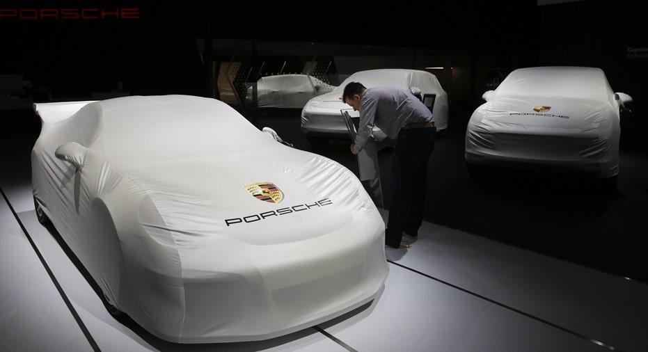 Porsche booth at LA Auto Show