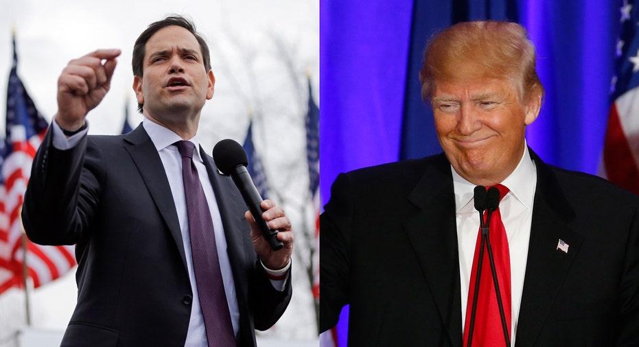 Marco Rubio and Donald Trump FBN