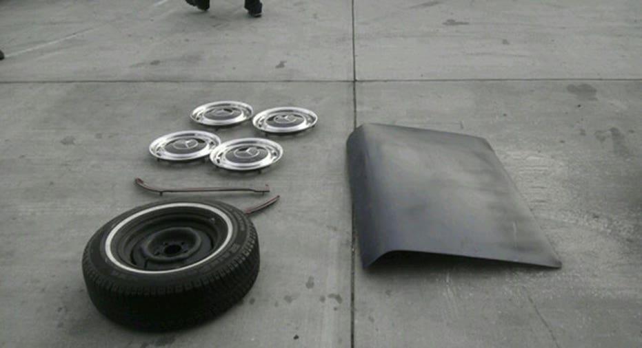 stolen car, stolen car parts
