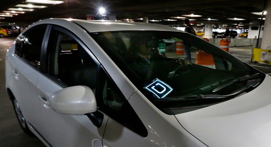 Uber car with logo FBN
