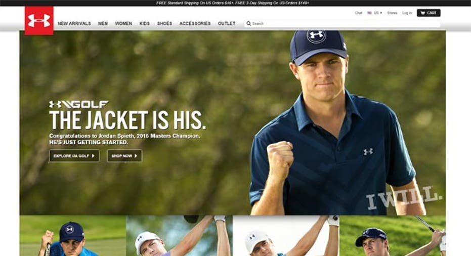 detailed images outlet store sale incredible prices Jordan Spieth, Stephen Curry Drive Under Armour Sales | Fox ...