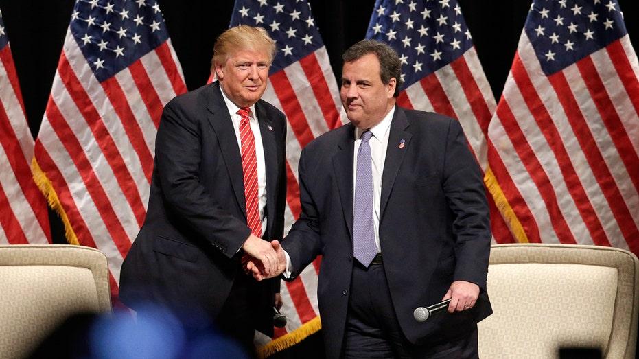 Donald Trump and Chris Christie FBN