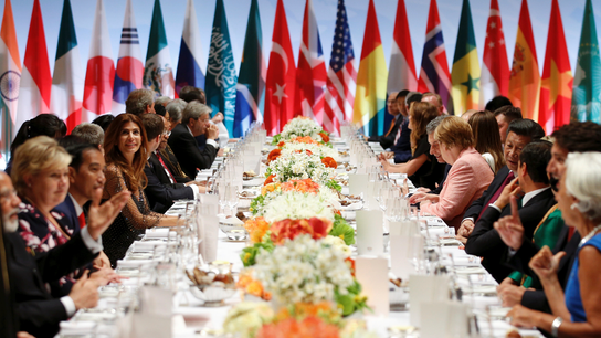 The Latest: G-20 leaders, spouses dine on local delicacies