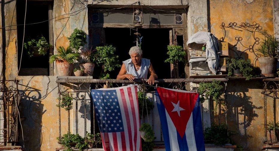 Cuba Flag American Flag AP FBN