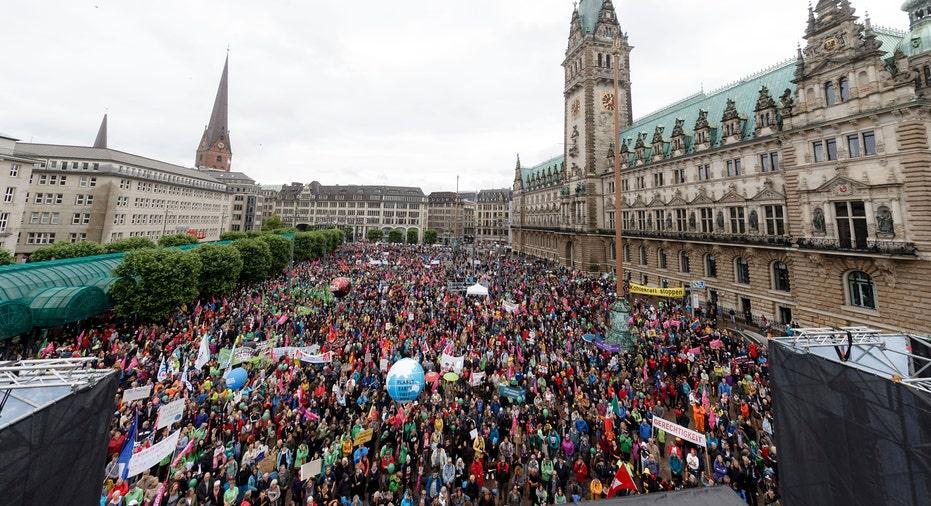 German G20 Protest 2017 AP FBN