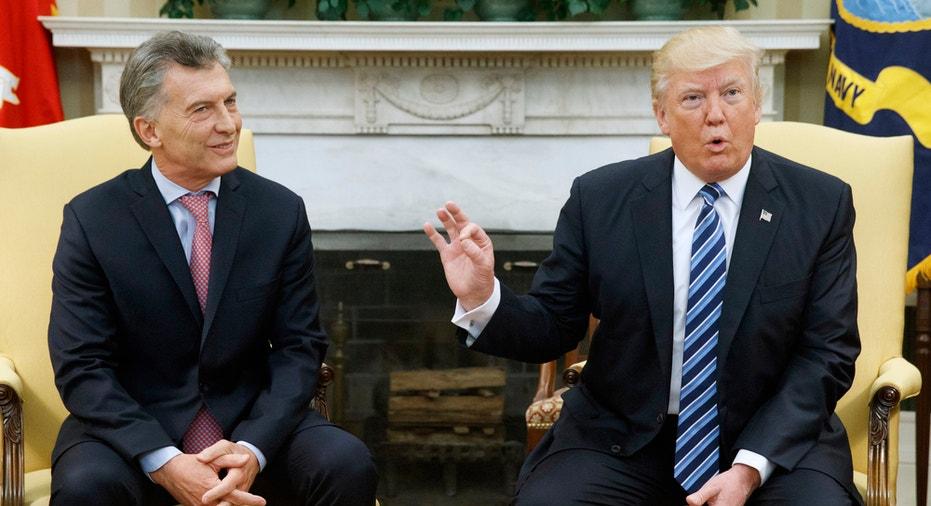 Trump & Argentine President Mauricio Macri FBN