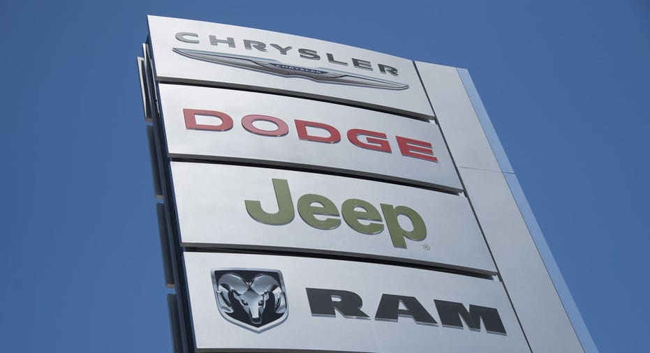 Chrysler Dodge Ram Jeep dealership sign Fiat Chrysler FCA FBN