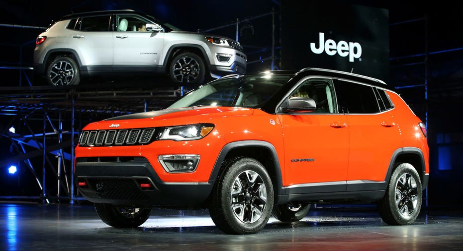 Jeep Compass at auto show FBN