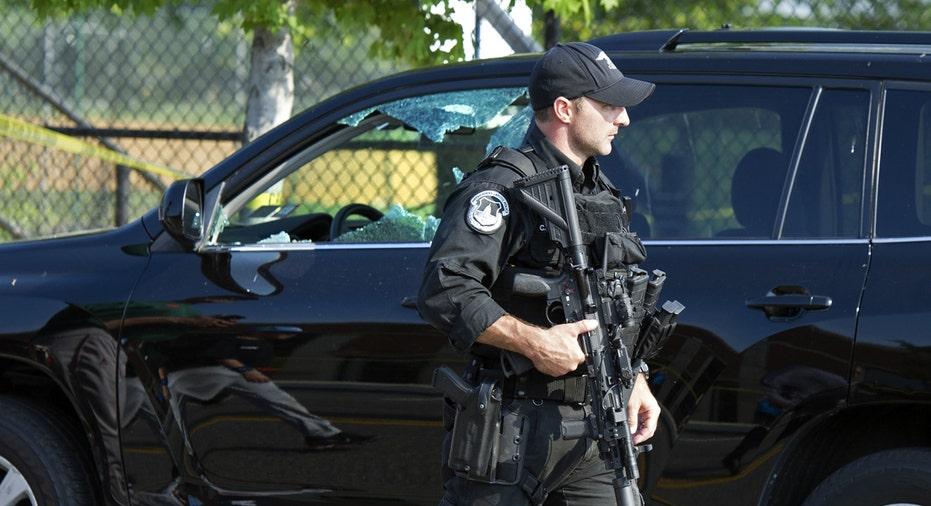 Police officer on scene of Scalise shooting AP FBN