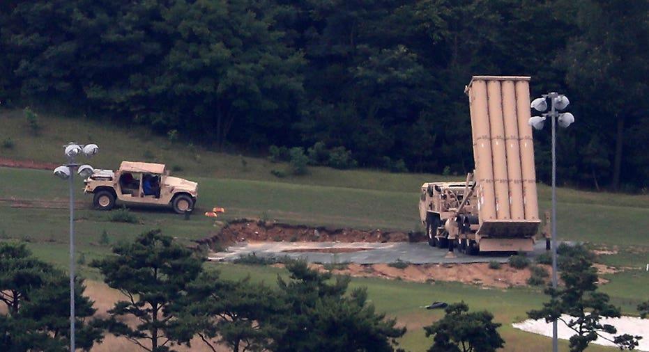 Lockheed Martin THAAD anti-missile system South Korea FBN AP