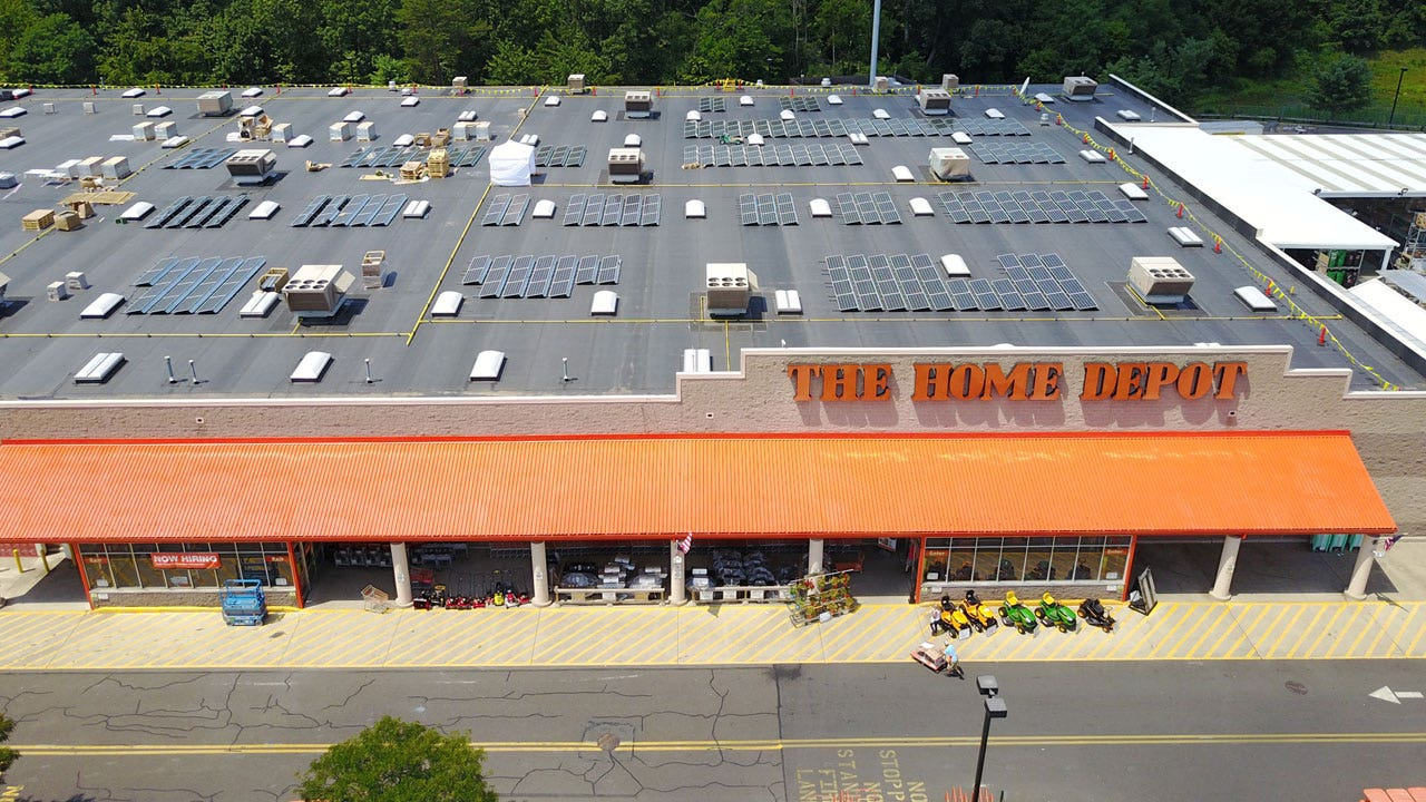 Home Depot turning 50 store rooftops into solar farms | Fox Business