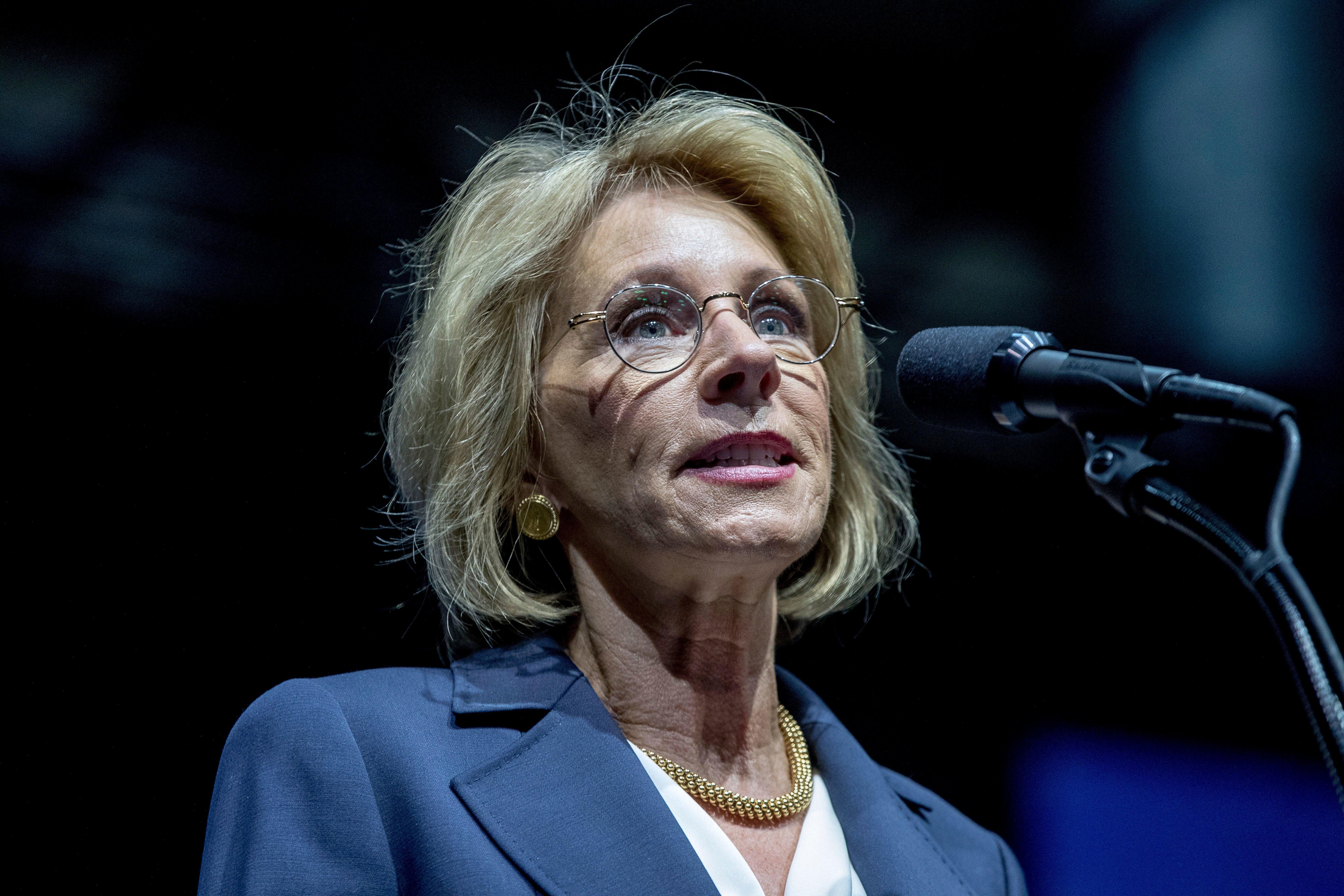 Betsy Devos And Plan To Break Public >> Education Secretary Betsy Devos On School Choice Vouchers And