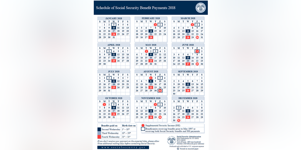 2018 Social Security Payments Schedule   Fox Business