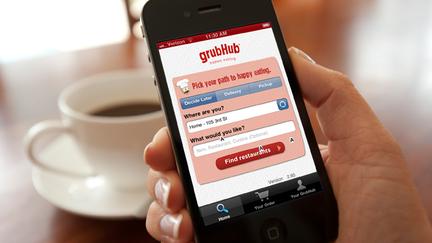GrubHub denies sale plan, shares fall
