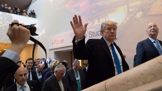 President Trump talks up dollar in Davos