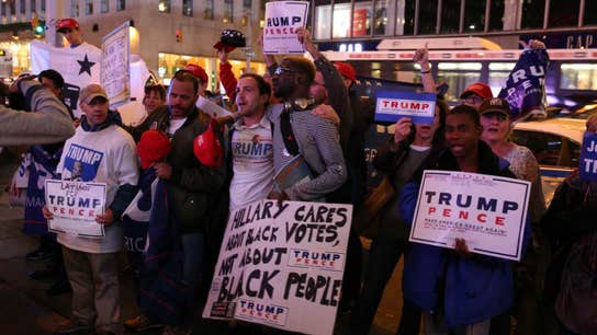 Election Night in NYC: Snapshots from Donald Trump's HQ