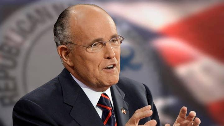 Former New York City Mayor Rudolph W. Giuliani Wednesday, Sept. 3, 2008. (AP Photo/Paul Sancya)