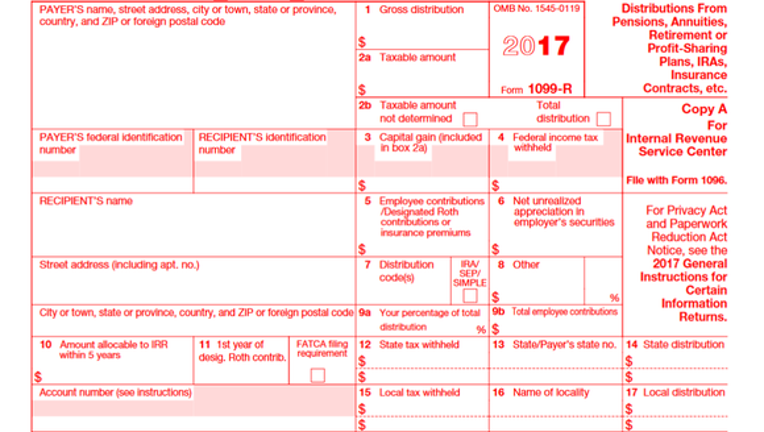 Irs Form 1099 R What Every Retirement Saver Should Know Fox Business