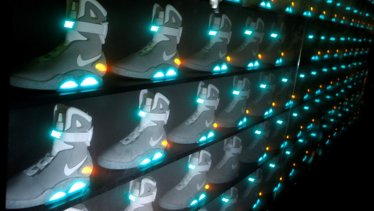 Nike s  Back To The Future  Sneakers Score Big For Charity  9e4333467bba