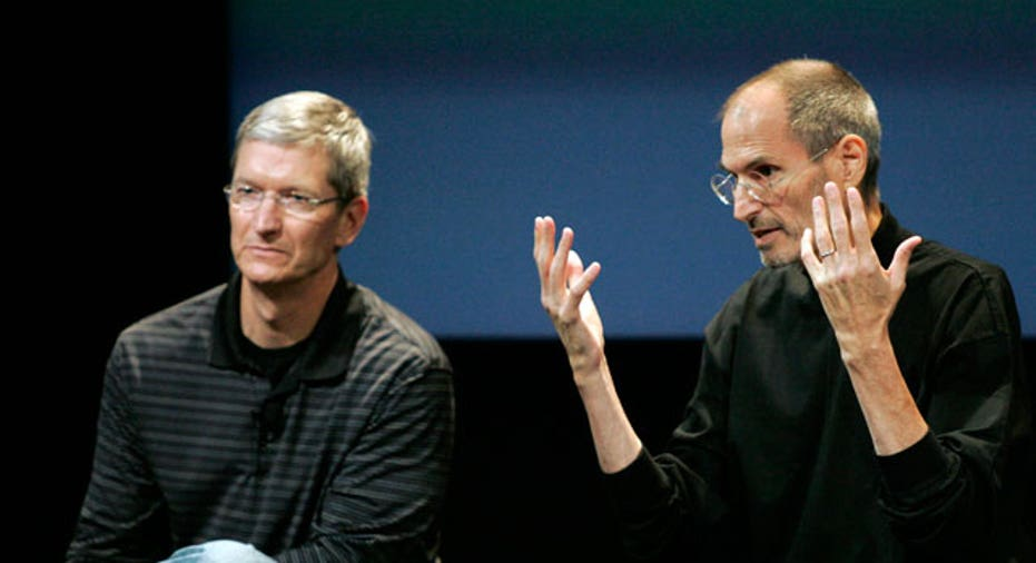 Tim Cook and Steve Jobs, Reuters