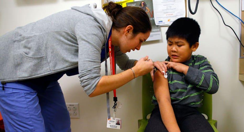 shot, flu, nurse, vaccine