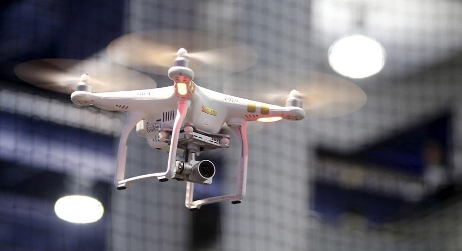 DJI Phantom 3 drone at CES 2016 FBN