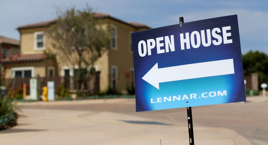Lennar open house sign, housing FBN