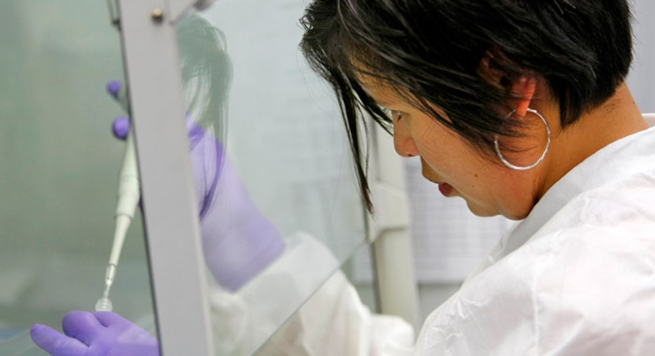 Woman Doing Medical Research