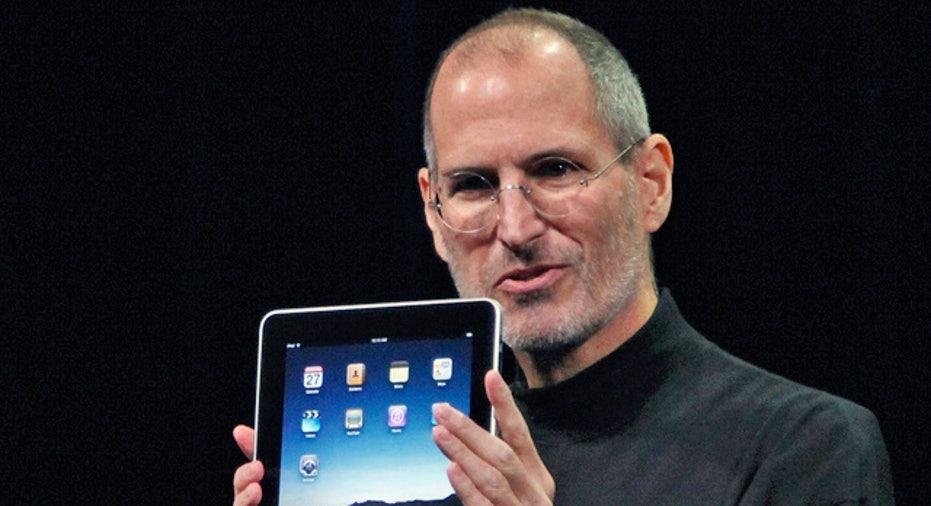 Apple CEO Steve Jobs With iPad
