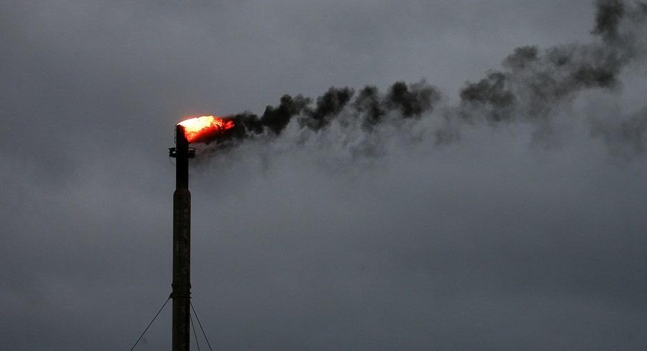 Burning oil refineries