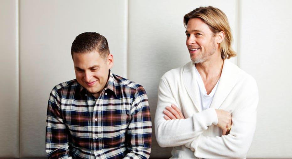 Moneyball Jonah Hill & Brad Pitt