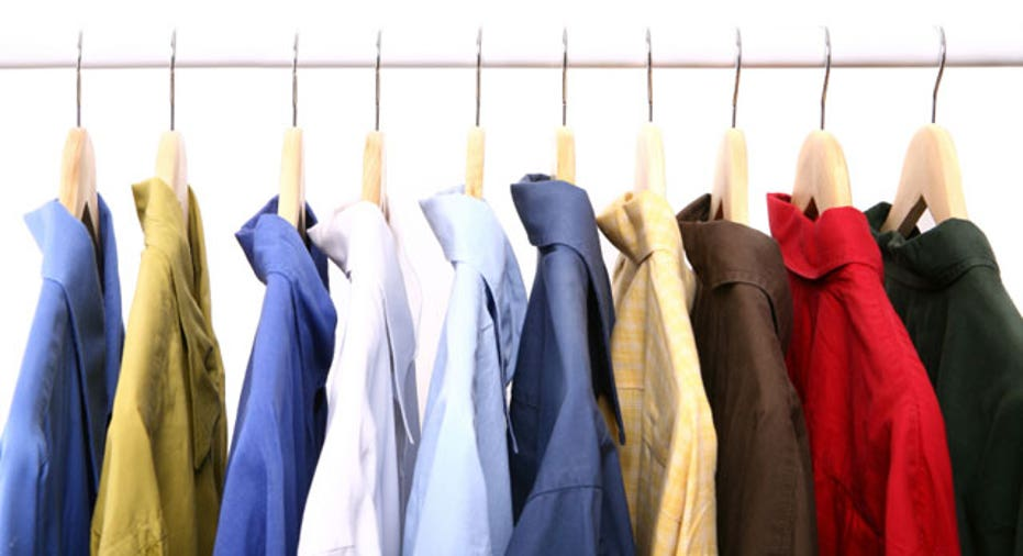 Assorted Men's Shirts Hanging on a Rack
