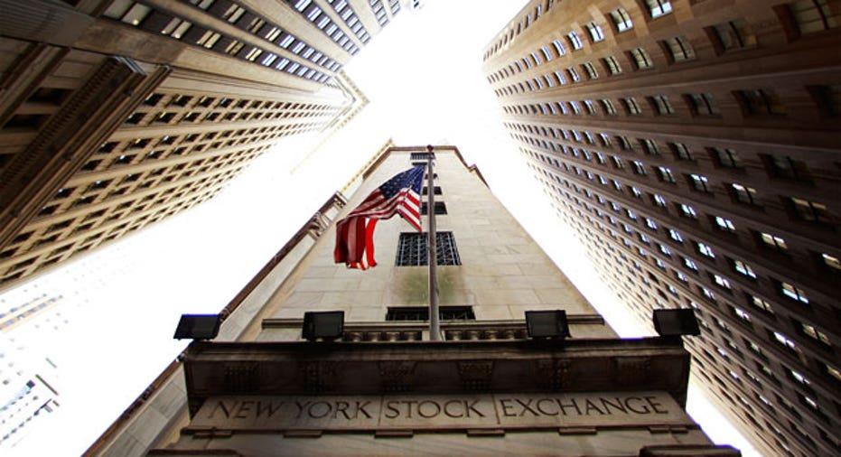 New York Stock Exchange Building Looking Up