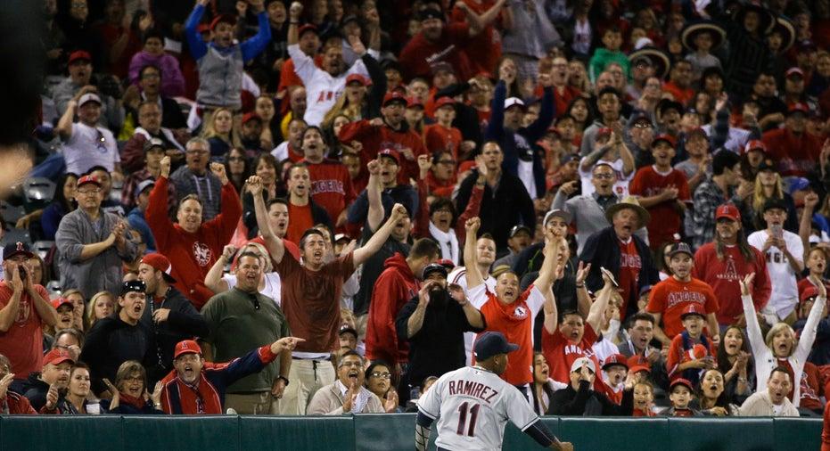 Indians Angels baseball fans FBN