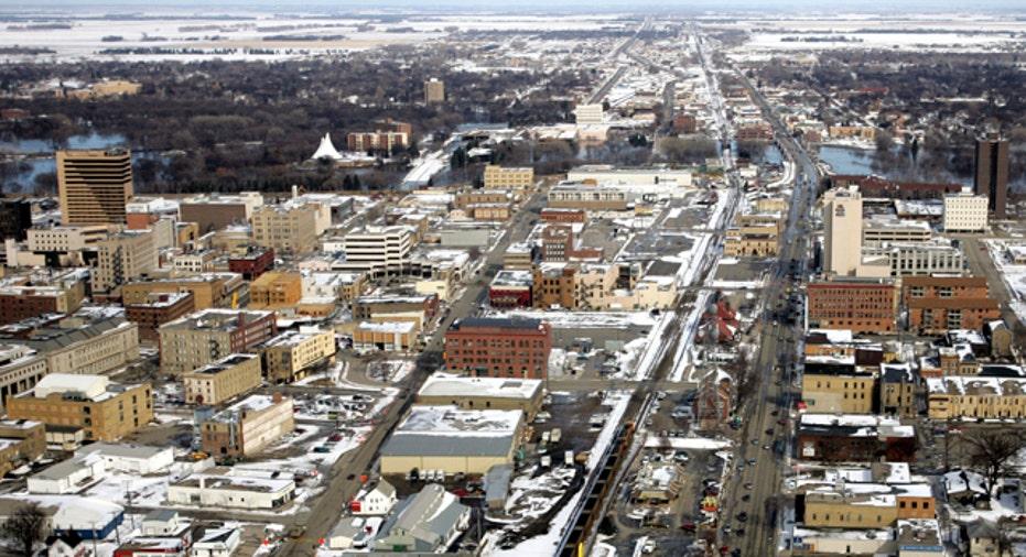 North Dakota Fargo Aerial