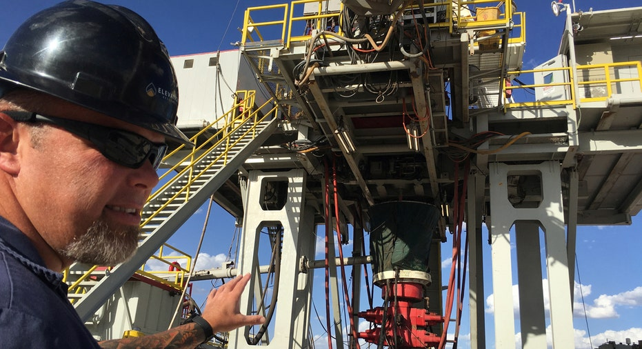 Permian Basin Texas oil worker and rig FBN
