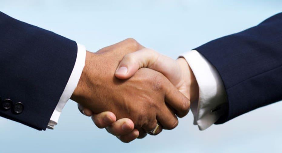 Businessmen Shake Hands