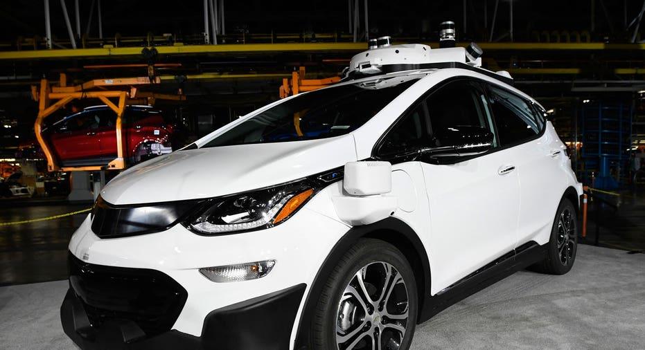 Chevrolet Bolt self-driving car, General Motors GM AP FBN