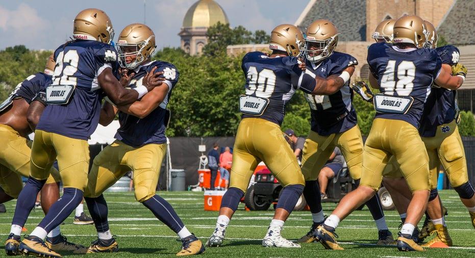 Notre Dame football practice FBN