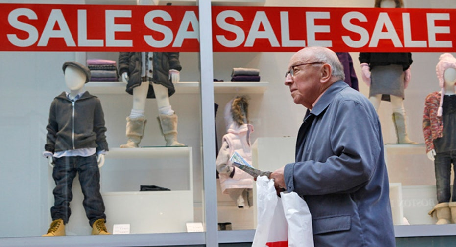 Elderly Man Shops Retail Sale