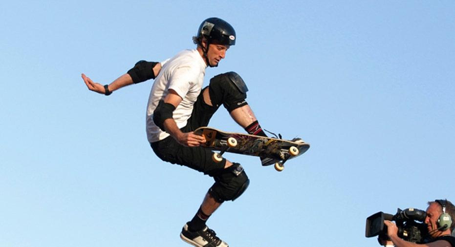 Skateboarder Tony Hawk