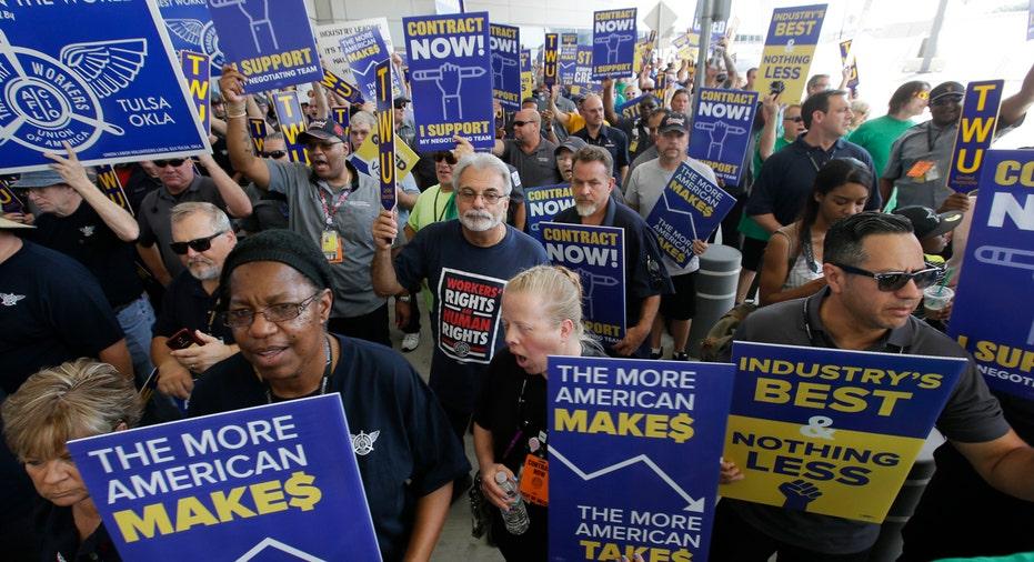 TWU Protest Dallas AP FBN