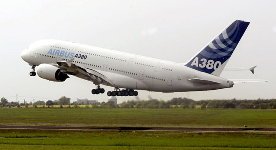 File Photo Airbus 380 Taking Off Reuters
