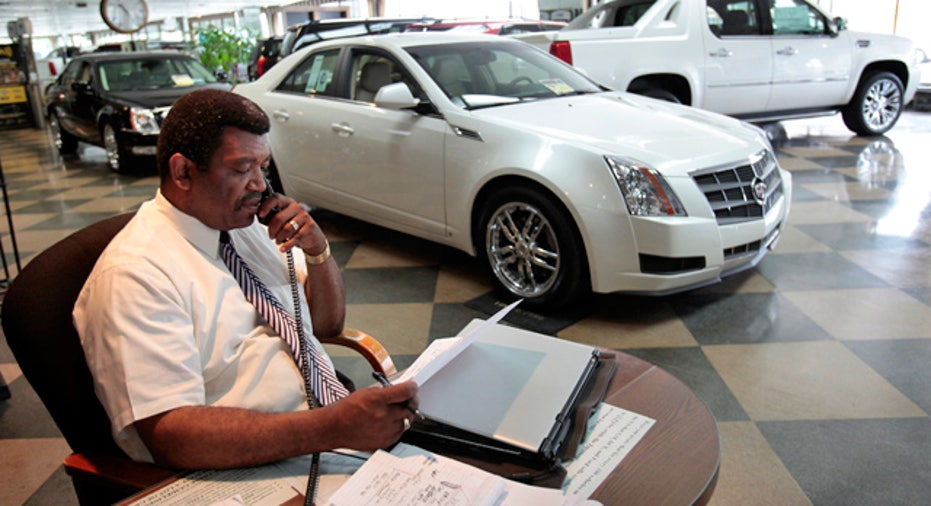 Auto Loan Paperwork at Dealership