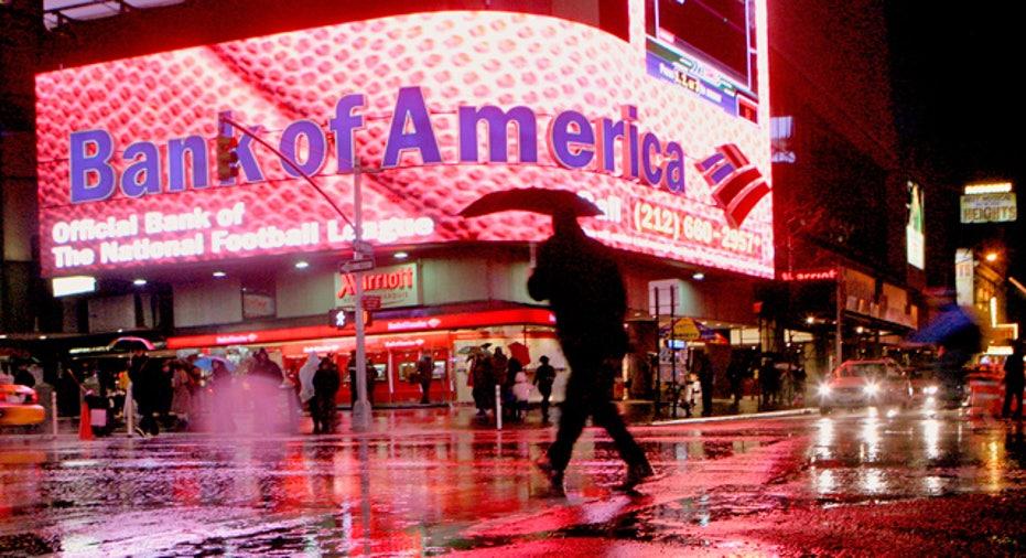 Bank of America New York City Branch Raining