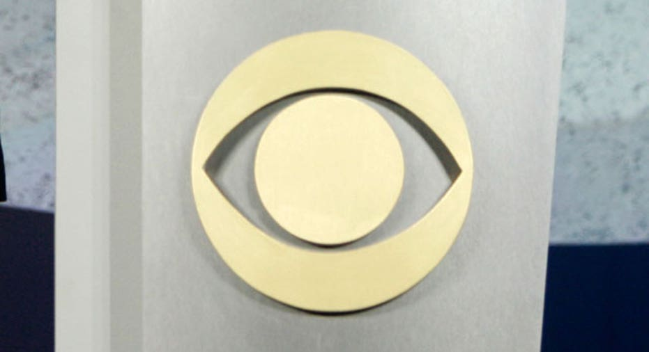 CBS Logo on a Podium