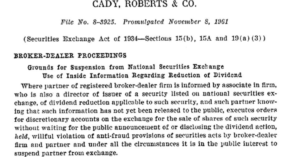 Cady Roberts Co. SEC Case
